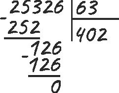 запись деления чисел