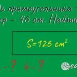 Как найти стороны прямоугольника при известных периметре и площади