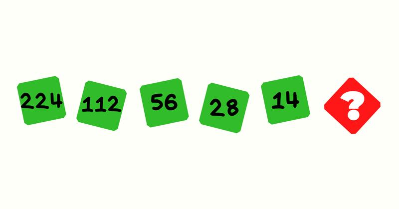 Продолжи последовательность чисел